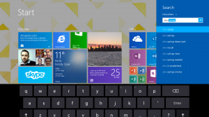 Quick and easy search in Windows 8.1