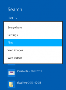 Quick and easy search filters in Windows 8.1